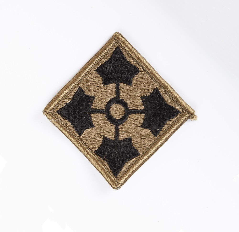 Vietnam War - U S  Army 4th Infantry Division OD Subdued Patch